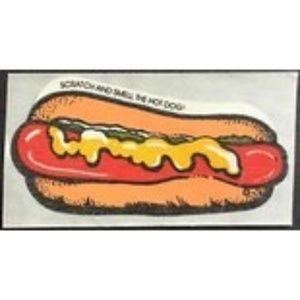 Vintage Mello Smello Hot Dog Sticker Scented